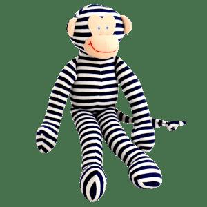 Alimrose | Monkey Rattle | Navy Stripe
