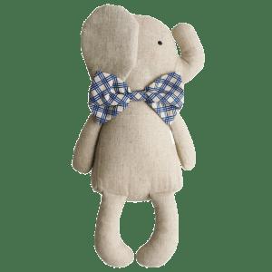 Alimrose | Sitting Linen Elephant