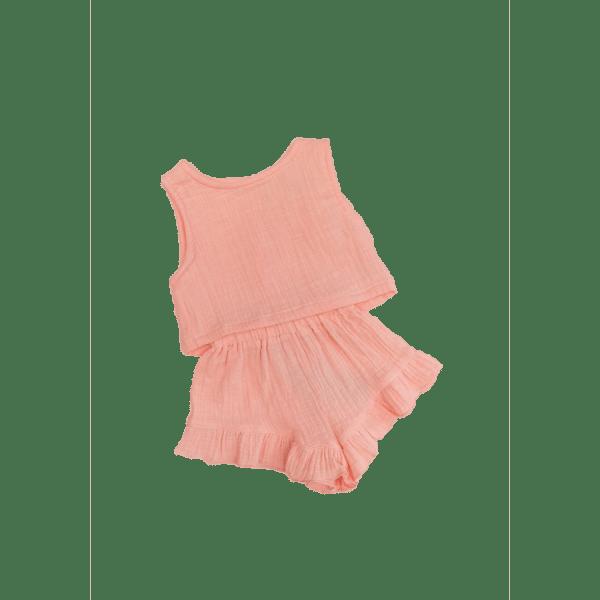 Bonnie and Harlo   Crop and Short Set   Flamingo