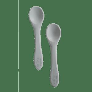 Bella Zailea | Silicone Spoon 2 Pack | Light Grey