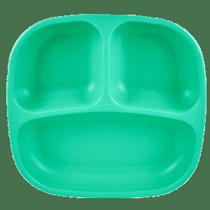 Re-Play | Divided Plate | Aqua