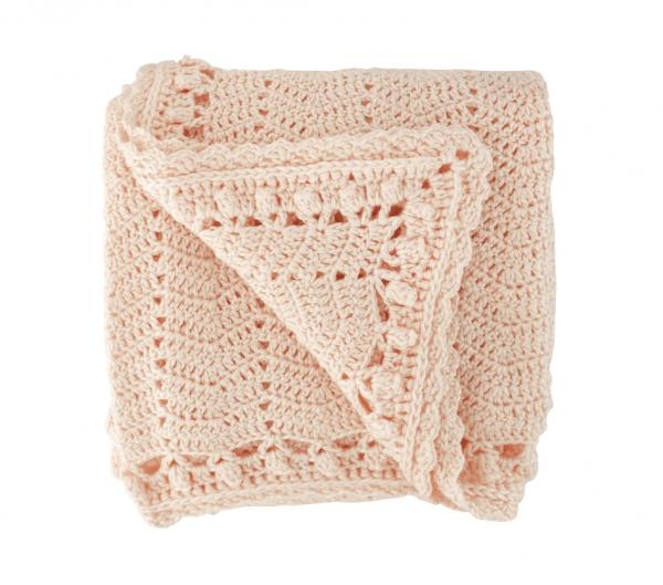 OB Designs | Crochet Baby Blanket | Peach