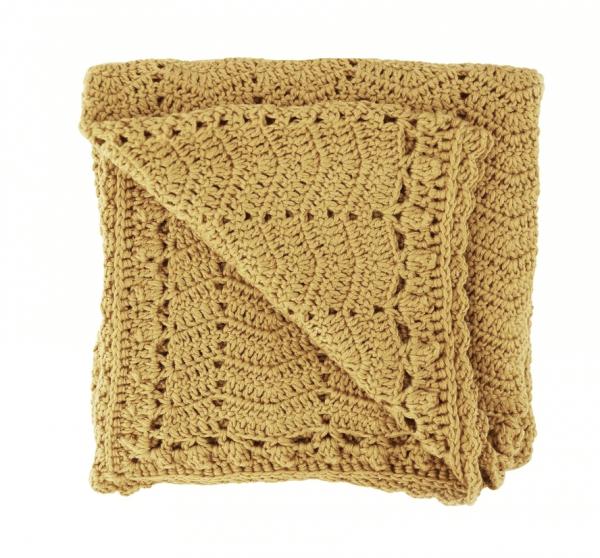 OB Designs | Crochet Baby Blanket | Turmeric