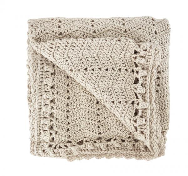 OB Designs | Crochet Baby Blanket | Vanilla